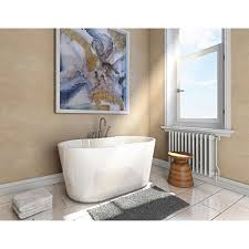 jono rex 56 in freestanding oval bathtub and faucet combo