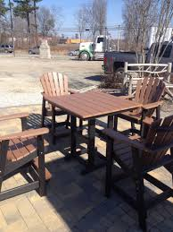 Patio Table Height by Exclusive Bar Height Patio Table Set Boundless Table Ideas