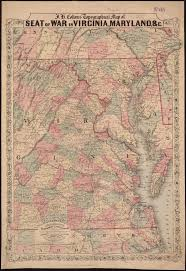 Topographical Map Of Virginia by File J H Coltons Topographical Map Of Seat Of War In Virginia