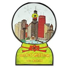 chicago snowglobe cards box set of 10 chicago