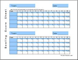 Ten Pin Bowling Sheet Template Bowling Sheet Excel Template Is A Free