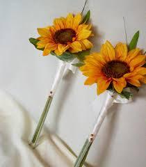 Sunflower Bouquets Wedding Ideas Silk Sunflower Wedding Bouquets Sunflower Wedding