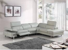 sofa gorgeous modern leather sectional sofa with recliners 4087