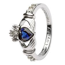 birthstone rings birthstone silver claddagh ring ls sl90 9