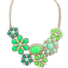 chunky crystal necklace jewelry images Hot charm crystal statement bib choker chunky necklace jewelry jpg