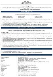 Test Engineer Resume Objective Software Engineer Resume Sample Experienced Download Resume