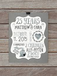 25 year anniversary gift ideas for 25 wedding anniversary gift ideas creative gift ideas