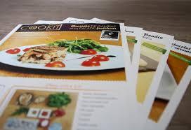 a cuisiner graphisme print création de fiches recette pour kit à cuisiner
