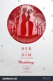 Craft Invitation Card Wedding Invitation Card Templates Paper Art Stock Vector 556328386