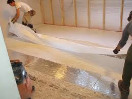stunning decoration floor moisture barrier how to install the over