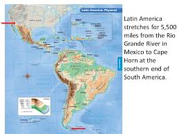 map of mexico south america america physical geography ppt