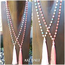 necklace stone beads images Full handmade agate stone beads tassels necklaces 2color women jpg