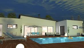 plan maison contemporaine plain pied 4 chambres maison contemporaine de plain pied 132 m 4 chambres