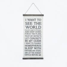 oygroup quotes words hanging painting on cotton linen decor for