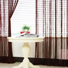 brown string curtain