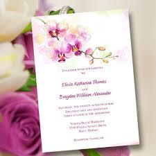 hawaiian themed wedding invitations printable wedding invitation template orchid