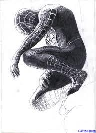gibon draw draw black spiderman