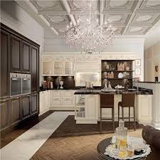 prefinished italian black painting modular kitchen cabinets with
