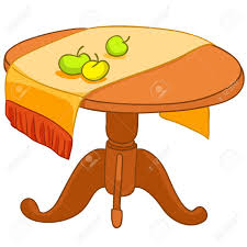 Home Furniture Dining Table Cartoon Home Furniture Table Royalty Free Cliparts Vectors And