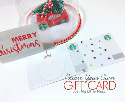 create your own card how to make a gift card
