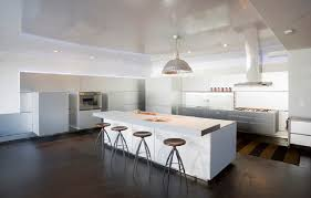 painted concrete floor designs in modern kitchen painting