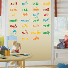 alphabet educational wall stickers wall stickers decals alphabet educational wall stickers on a playroom wall