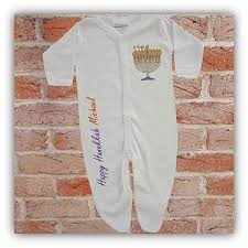 hanukkah clothes personalized happy hanukkah baby clothes sleeper with menorah for