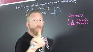 maximum height of a ball quadratic word problem youtube