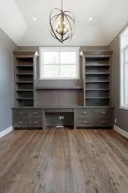Gray Office Desk Built In Office Desk Transitional Den Library Office Pratt