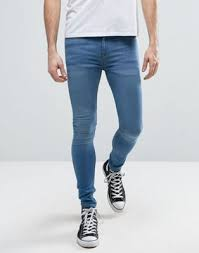 mens light blue jeans skinny new look extreme super skinny jeans in light wash blue super
