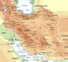 World Map With Cities Elevation Map Of Iran With Cities Iran Asia Mapsland Maps