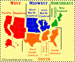 us state abbreviations map usa regional map quiz printouts enchantedlearning com