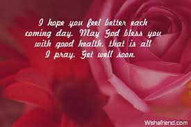 i you feel better each get well soon message for