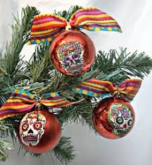 sugar skull christmas ornament blue my style pinterest sugar