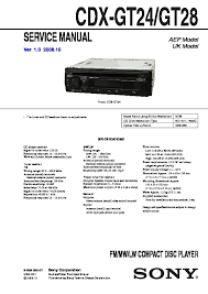 sony cdx gt24 cdx gt28 service manual free download