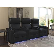 Next Leather Sofas by Turbo 3 Seat Bonded Leather Power Recliner Home Theatre Seating