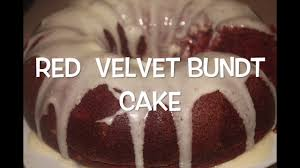 easy red velvet bundt cake youtube