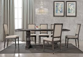 avondale rustic grey dining table intended for modern residence
