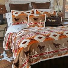 Horse Comforter Twin Western Bedding Cabin Place