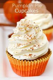 pumpkin pie cupcakes with cinnamon frosting