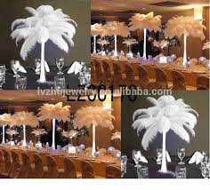 ostrich feather table centerpiece wedding feathers lzw031 view