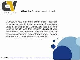 Resume Vs Vita Curriculum Vitae Definition Jospar