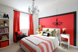 bedroom interior design with red wall color scheme the glam of red