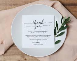 place setting template wedding thank you card thank you printable wedding table thank