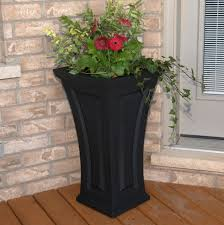 unique plant pots decor fabulous tall planters for cool garden decoration ideas