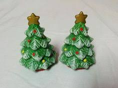 ceramic christmas tree salt and pepper shakers set china 3 inches