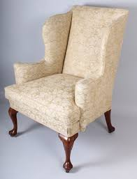 Queen Anne Wingback Chair Leather Queen Anne Wingback Chair For Interesting Queen Anne Wingback