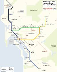 San Diego City Map by San Diego Plans Extension To Its Trolley Network Mostly Skipping