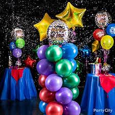 New Year Balloon Decorations by Colorful New Year U0027s Eve Balloon Ideas Party City