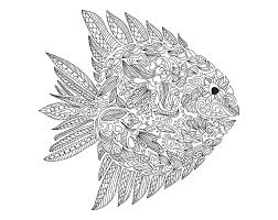 free coloring coloring zentangle fish artnataliia
